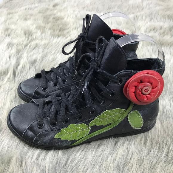 66b93fc167ff Braccialini Shoes - Braccialini High Top Sneakers 3D Rose Flower 5